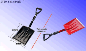 Portable Telescopic Plastic Snow Shovel