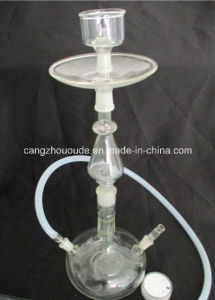 Handmade Clear Glass Tobacco Smoking Hookah Pipe
