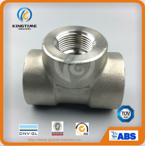 ASME B16.11 Ss 304 High Pressure Socket Weld Equal Tee Forged Fittings (KT0575) pictures & photos