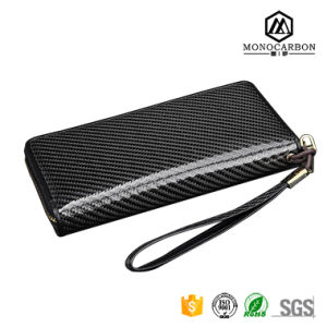 Long Design Multi-Functional Travel Colorful Carbon Fiber Zipper Wallet for Women pictures & photos