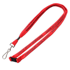 Promotion Custom Logo Pk Narrow Lanyard with Safety Breakaway Buckle pictures & photos