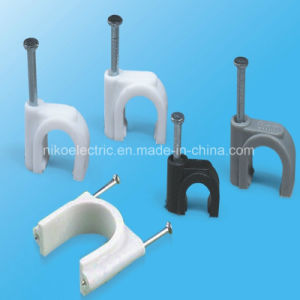 Good Tensile Square Cable Clips with Steel Nail pictures & photos