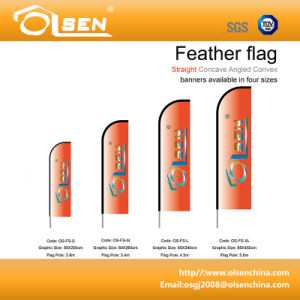 Lightwight and Portable Feather Flagpole for Event pictures & photos