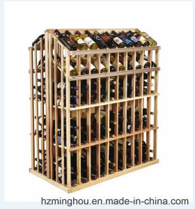 Rustic Solid Wood 260 Bottles Display Stand for Wine Storage