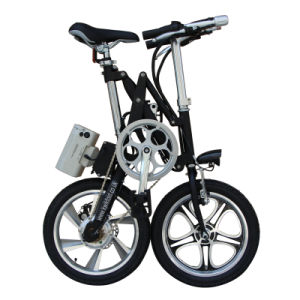 16′ ′ Folding E-Bike for Adults Small Foldable Electric Bikes