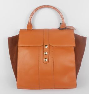 Guangzhou Supplier Fashionable Genuine Leather Lady Handbag Bag (191)