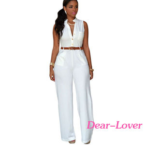Fashion Women's Ladies Sleeveless Jumpsuit Romper