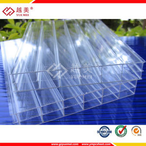 China Clear Plastic Roofing Panels 16mm Triple Wall Polycarbonate Hollow Sheet China Polycarbonate Hollow Sheet Roofing Panels