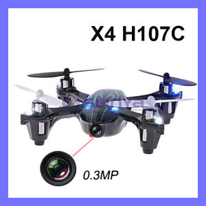 Hot Sale Hubsan X4 H107c 2.4G 4CH RC Quad Copter 0.3 MP Camera Mode 2 RTF Remote Control Helicopter UFO Drone pictures & photos