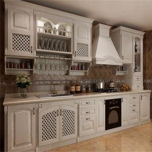 Custom Matt Wood Veneer Kitchen Cabinet
