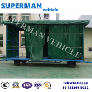 15t Luggage and Cargo Transport Drawbar Full Carrier Trailer pictures & photos