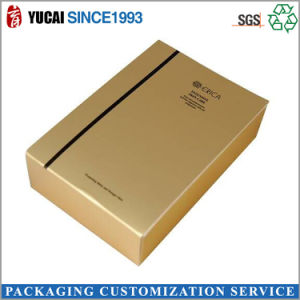 Gold Color Glossy Lamination Gift Box pictures & photos