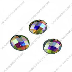 Round Ab Sew on Rhinestones with Two Holes (DZ-1031) pictures & photos