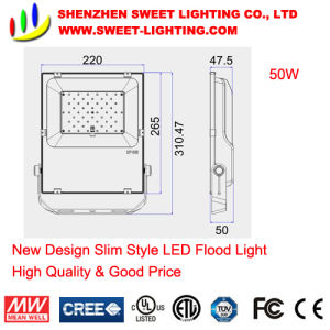 10W-200W High Quality New Design Super Slim LED Flood Light pictures & photos