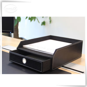 Pu Leather Office Paper Tray Whole