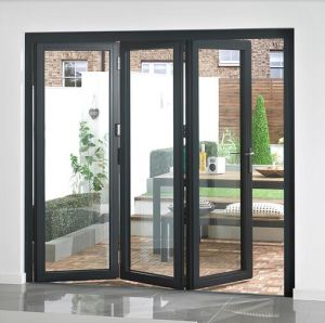 Aluminum Tempered Glass Modern Design Commercial Accordion Folding Doors
