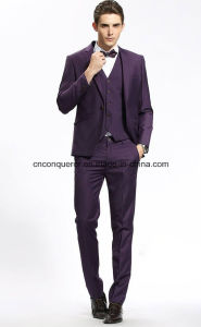 Full Wool High Quality Black Cloose Suit pictures & photos