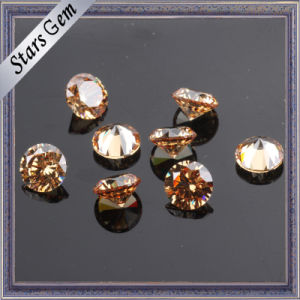 Round Brilliant Cut Hot Sale Champagne CZ Stone for Jewelry pictures & photos
