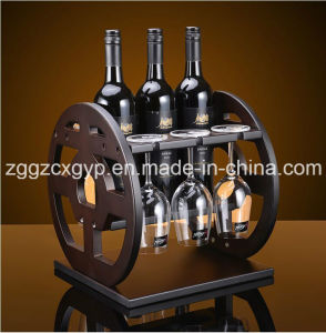 Fashionable Wooden Wine Rack/High Quality Wooden Wine Display Rack/Art Design Wine Display Rack Cx-Wr09 pictures & photos