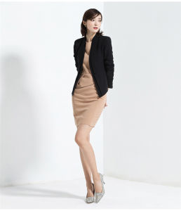 Made to Measure Fashion Stylish Office Lady Formal Suit Slim Fit Pencil Pants Pencil Skirt Suit L51607 pictures & photos
