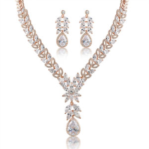 China Wholesale Zircon Bridal Design Fashion Jewellery African Gold