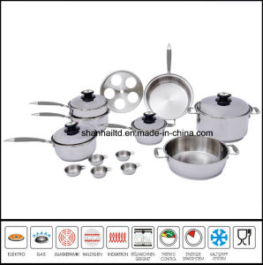 Waterless Greaseless Surgical Stainless Steel Cookware Set pictures & photos