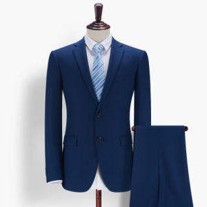 Wholesle High Quality Mens Solid Color Blue Formal Business Suit pictures & photos