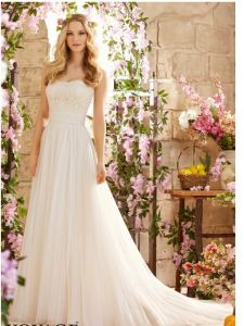 2015 Latest Lace A-Line Bridal Wedding Dresses (WD5801) pictures & photos