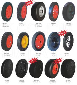 Cheap Price and High Quality Rubber Wheel with Steel or Plastic Rim, Air or Flat Free Available pictures & photos
