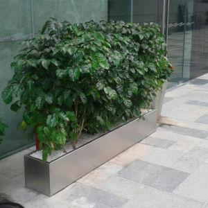 China Custom Made Stainless Steel Flower Pot Rectangular Planter Box