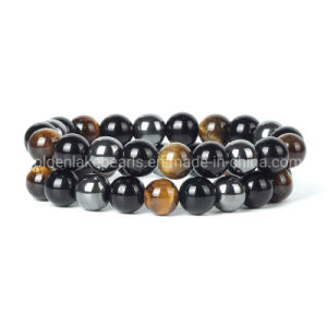 50 Hematite Gray Glass Pearl Round Beads 8MM LIMITED
