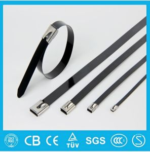 304 316 Full Epoxy Coated Stainless Steel Cable Tie Ball Lock Type pictures & photos