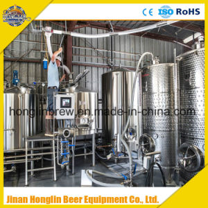 Commercial Beer Brewery Equipment, Turnkey Project Beer Brewery System Micro Brewery Equipments with Cooling Fermenter for Sale