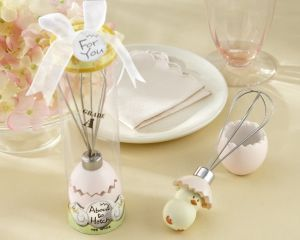 "About to Hatch"" Stainless-Steel Egg Whisk in Showcase Gift Box Wedding Favors Giveaway Centerpieces Accessoriesgift Baby Shower"