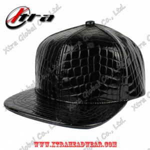 Blank Crocodile Skin Blink Leather Flat Peak Hat pictures & photos