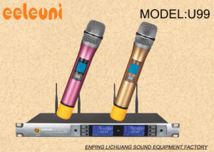 Professional Performance&Show UHF Dual Channels True Diversity Wireless Microphone