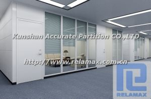 SGS Fireproof Double Glazed Glass Blinds Steel Office Partition (3)