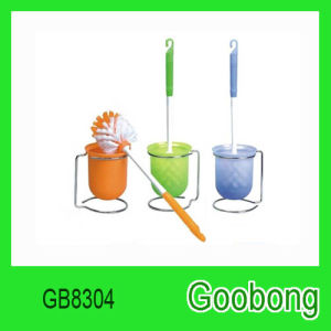 Plastic Toilet Cleaner Brush Holder Set