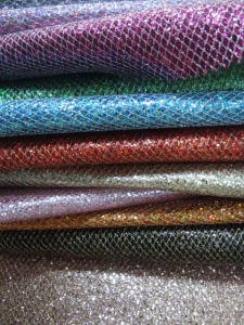 PU Glitter Fabric Leather