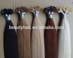 "Cheap Price Top Quality Pre-Bonded Keratin Fusion I/Stick-Tip Peruvian Remy Human Hair Extensions 20"" Medium Brown pictures & photos"