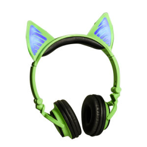 China Glowing Cat Ear Cute Wireless Bluetooth Headphone Headset For Girls China Bluetooth Headphone And Bluetooth Headphone Headset Price