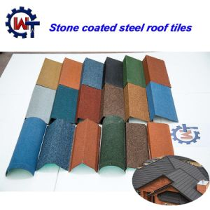 Light Weight New Design Colorful Stone Coated Metal Wood Tile pictures & photos