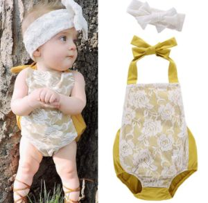 606cb1414377 China Newborn Baby Girl Infant Lace Romper Jumpsuit Bodysuit Dress ...