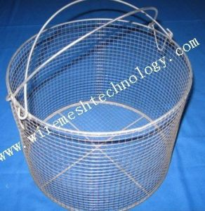 China Customed Round Stainless Steel Wire Mesh Baskets - China Wire ...