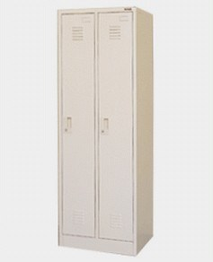 2-Doors Metal Cloth Wardrobe of Bedroom Design Furniture for Dormitory pictures & photos