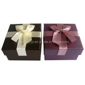 Paper Gift Boxes, Cake Box, Square Box with Ribbon (018)