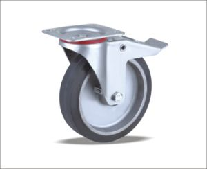 Swivel Caster With Elastic Rubber Wheel pictures & photos