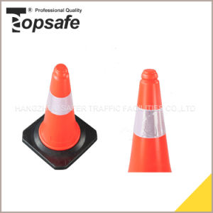50cm LDPE Fluorescent Orangetwo Parts Traffic Cones (S-1202L) pictures & photos