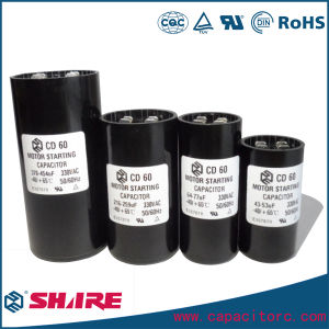 CD60 Start Capacitor Aluminum Electrolytic Capacitor pictures & photos