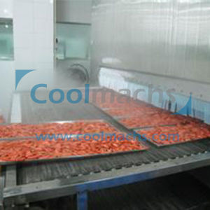 IQF Tunnel Quick Freezing Machine for Shrimp Seafood pictures & photos